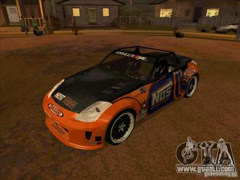 Nissan 350Z NOS Energy Drink for GTA San Andreas
