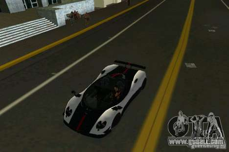 Pagani Zonda Cinque Roadster 2010 for GTA Vice City right view