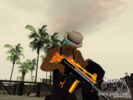 Black and Yellow weapons for GTA San Andreas third screenshot