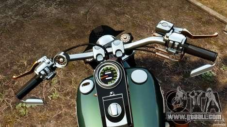 Harley Davidson Fat Boy Lo Racing Bobber for GTA 4 back view