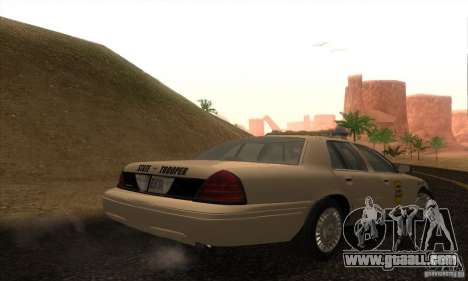 Ford Crown Victoria Iowa Police for GTA San Andreas left view