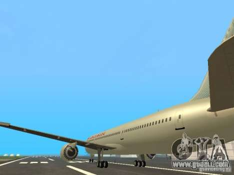Boeing 787 Dreamliner Air Canada for GTA San Andreas back left view