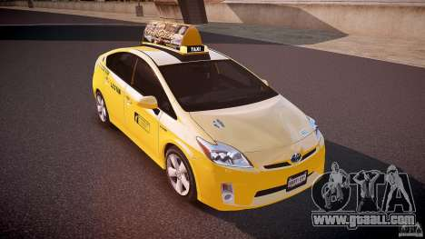 Toyota Prius LCC Taxi 2011 for GTA 4 side view