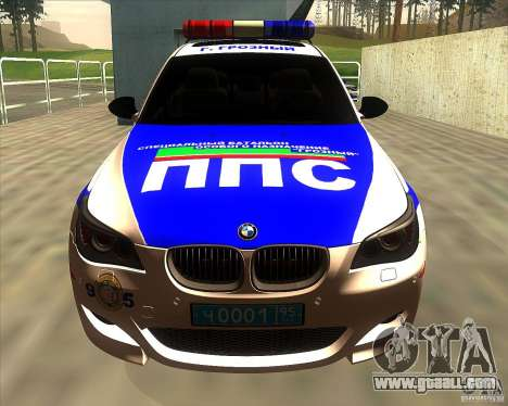 BMW M5 E60 Police for GTA San Andreas inner view