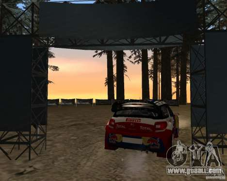 Citroen DS3 WRC for GTA San Andreas back left view
