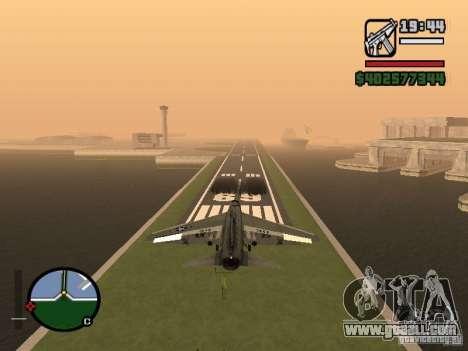 A-7 Corsair II for GTA San Andreas back left view