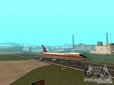 Boeing 747 Air Canada for GTA San Andreas inner view