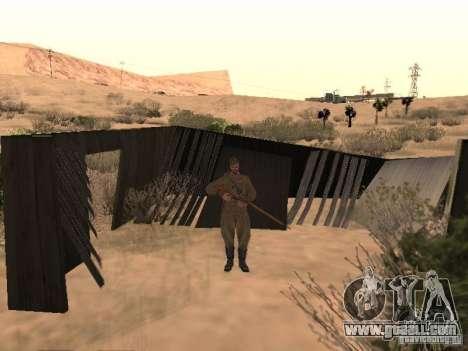 WORLD WAR II Soviet soldier skin for GTA San Andreas second screenshot