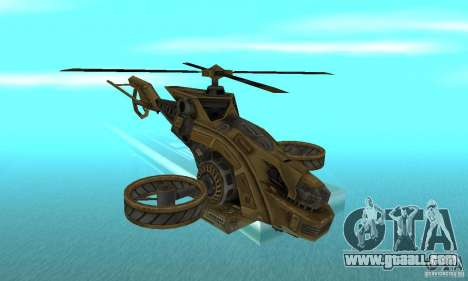A helicopter from the game TimeShift Brown for GTA San Andreas
