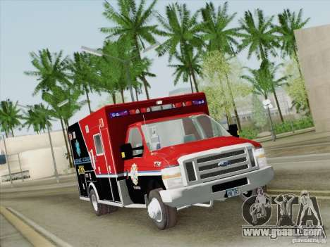Ford E-350 AMR. Bone County Ambulance for GTA San Andreas upper view