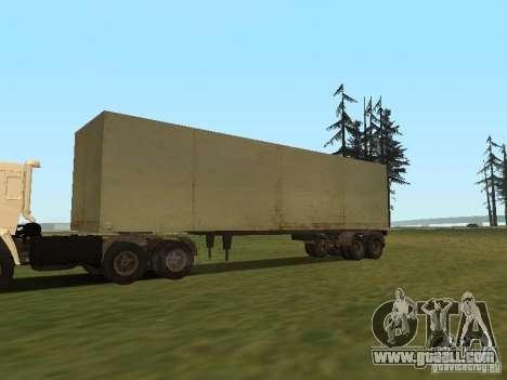 Nefaz 93344 trailer for GTA San Andreas right view