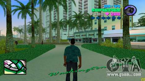 Square radar for GTA Vice City third screenshot