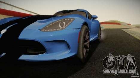 Dodge Viper GTS 2013 for GTA San Andreas left view