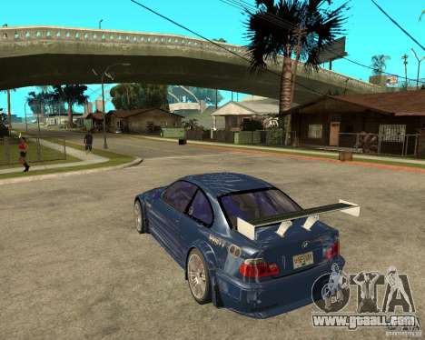 BMW M3 GTR from Need for Speed Most Wanted for GTA San Andreas left view