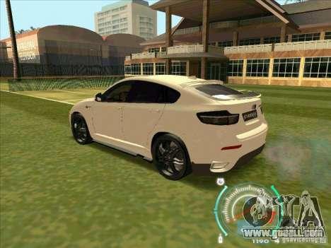 BMW X6 M Hamann Design for GTA San Andreas back view