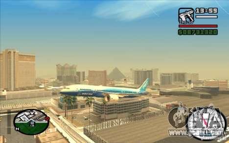 Boeing 787 Dreamlinear for GTA San Andreas