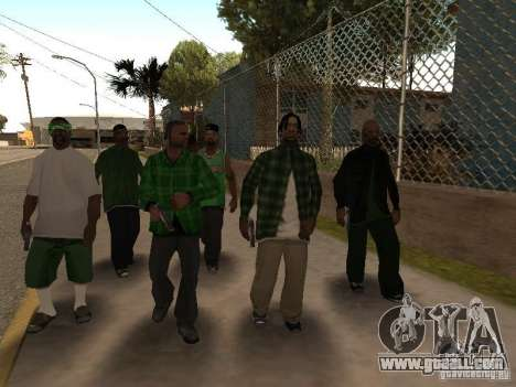 New skins the Grove Street Gang for GTA San Andreas forth screenshot