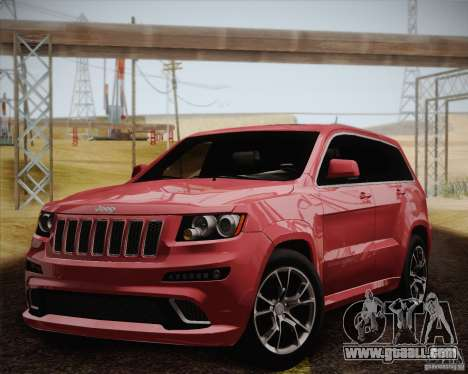 Jeep Grand Cherokee SRT-8 2012 for GTA San Andreas inner view