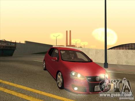 VW Golf Mk5 GTi - Stock: Tunable for GTA San Andreas back view