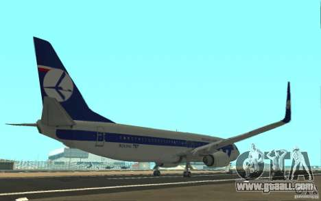 Boeing 737 LOT Polish Airlines for GTA San Andreas right view