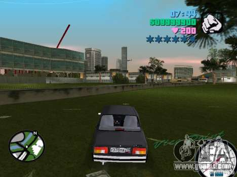 Vaz 2105 for GTA Vice City back left view