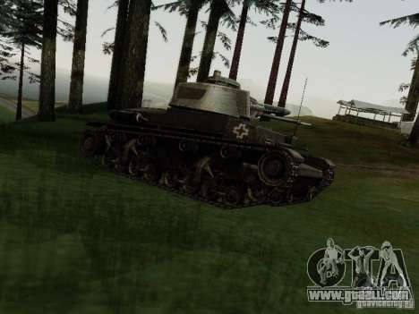 Pzkpfw-35t for GTA San Andreas left view
