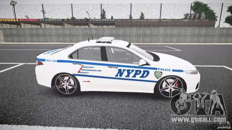 Honda Accord Type R NYPD (City Patrol 1090) ELS for GTA 4 inner view