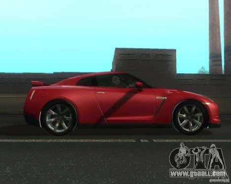Nissan GTR R35 Spec-V 2010 Stock Wheels for GTA San Andreas left view