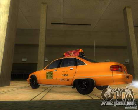 Chevrolet Caprice Taxi 1991 for GTA San Andreas left view