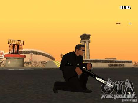 Blue Weapon Pack for GTA San Andreas forth screenshot