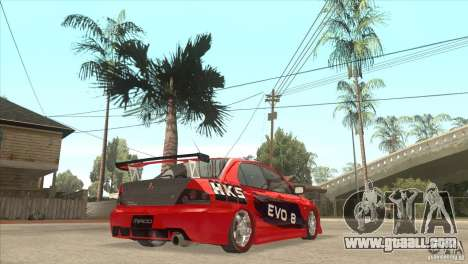 Mitsubishi Evo 8 Tuned for GTA San Andreas right view