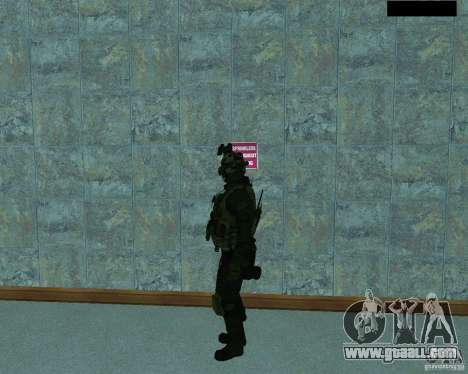 The third soldier from the skin Cod MW 2 for GTA San Andreas second screenshot