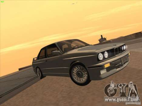 BMW M3 E30 1991 for GTA San Andreas back left view