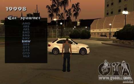Vehicles Spawner for GTA San Andreas second screenshot