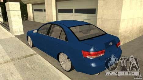 Hyundai Sonata NF for GTA San Andreas back left view