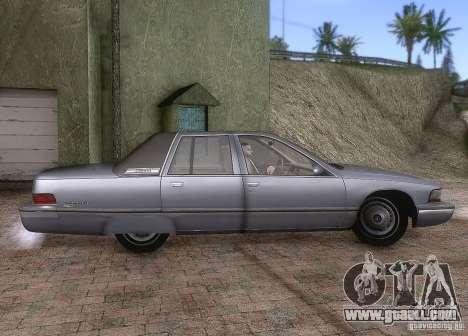 Buick Roadmaster 1996 for GTA San Andreas back view