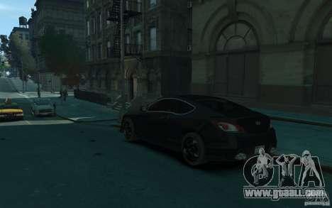 Hyundai Genesis HKS v1.1 for GTA 4 back left view