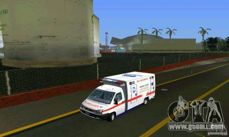 RTW Ambulance for GTA Vice City back left view