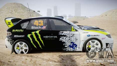 Subaru Impreza WRX STi 2009 Ken Block for GTA 4 side view
