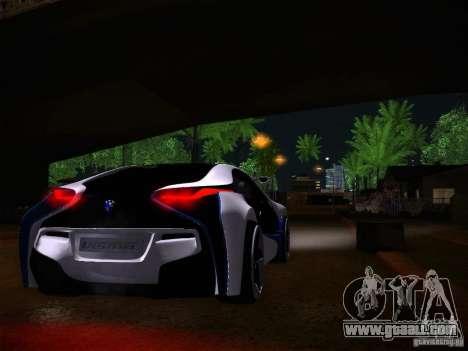 BMW Vision Efficient Dynamics I8 for GTA San Andreas back view