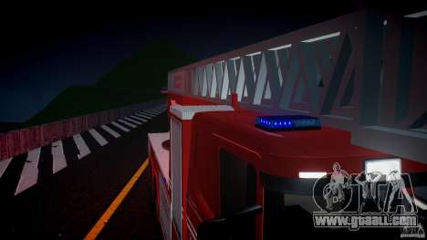 Scania Fire Ladder v1.1 Emerglights blue [ELS] for GTA 4 bottom view