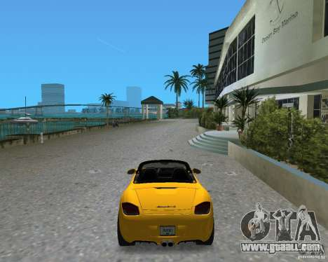 Porsche Boxster 2010 for GTA Vice City back left view
