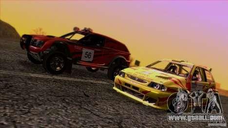 Seat Ibiza Rally for GTA San Andreas interior
