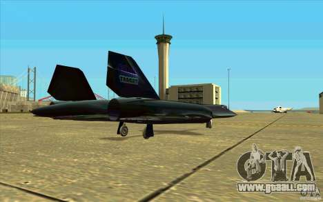 SR-71A BLACKBIRD BETA for GTA San Andreas inner view