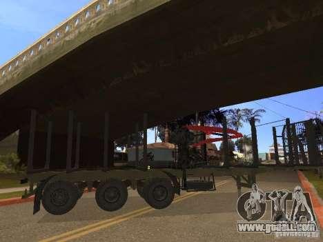Trailer MAZ 99864 for GTA San Andreas right view