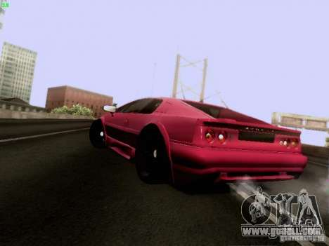 Lotus Esprit V8 for GTA San Andreas back left view