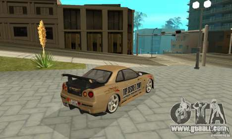 Nissan Skyline R-34 GTR for GTA San Andreas wheels