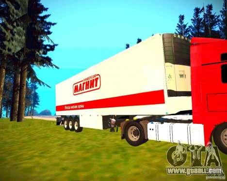 Semi-trailer for GTA San Andreas left view