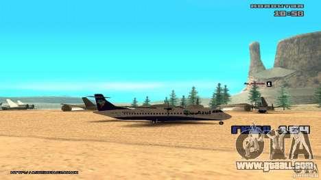 ATR 72-500 Air Azul for GTA San Andreas back left view
