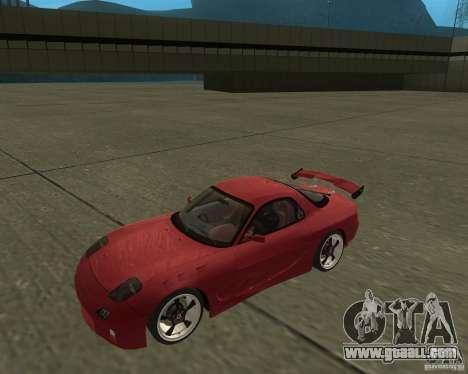 Mazda RX-7 weapon war for GTA San Andreas